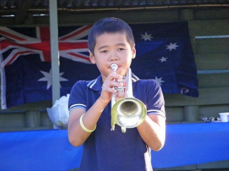 Ziyoun playing his cornet