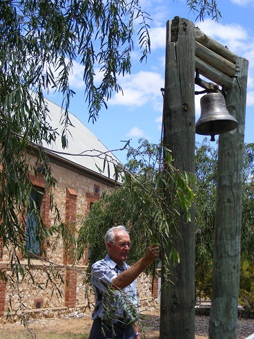 Ivor Minney ringing the bell in 2012.